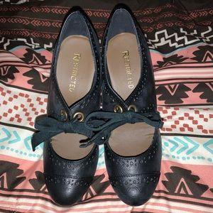 Adorable Black Wedge Heel